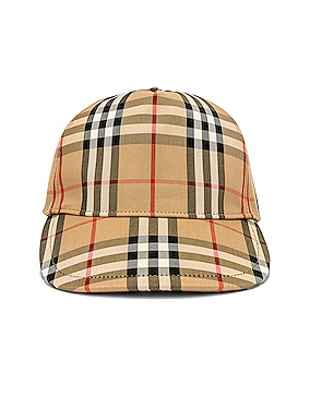 Heavy Cotton Check Trucker Cap