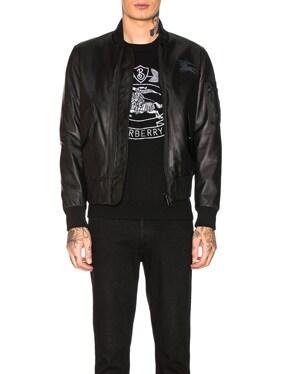 Sandford Leather Bomber Jacket