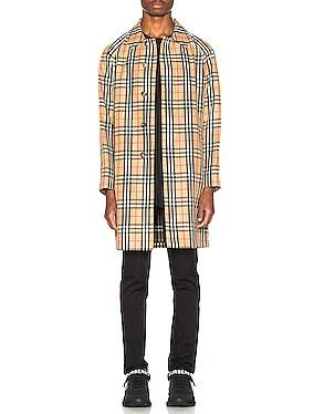 Check Nylon Carcoat