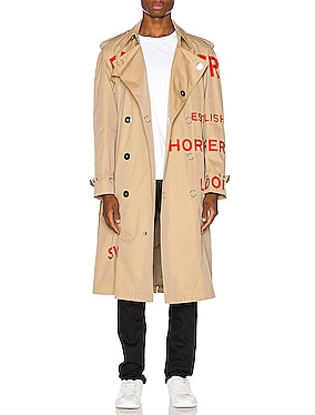 Logo Trench Coat