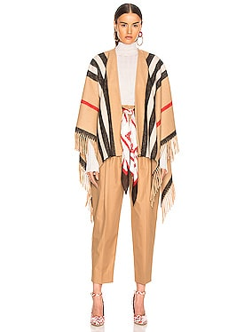 Medium Stripe Equestrian Cape
