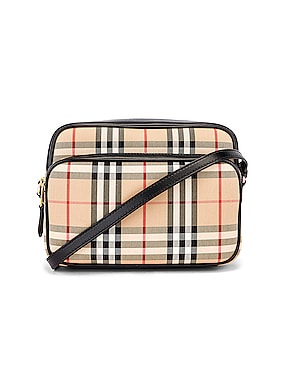 Medium Vintage Check Camera Bag
