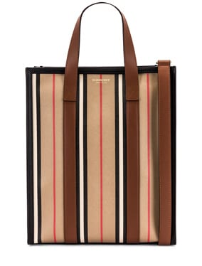 Small Icon Stripe Book Tote