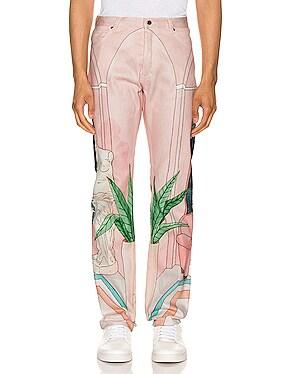 Chambre 602 Printed Denim Jeans