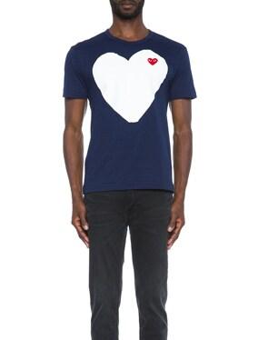 Red Emblem Cotton Heart Tee