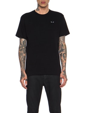 Black Emblem Cotton Tee