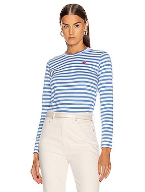Striped Small Emblem Tee