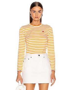 Small Red Heart Striped Tee