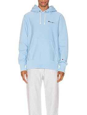 Small Script Hood Sweatshirt