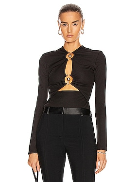 Orbit Ruched Long Sleeve Top