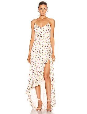 Ruffle Slip Gown