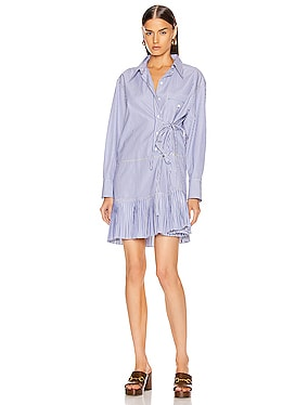 Pleated Shirt Mini Dress