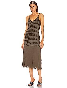 Sleeveless Stripe Midi Dress