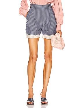 Pinstripe Tailored Short