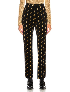 Horse Embroidered Trousers
