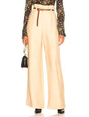 Fluid Viscose Wide Leg Trousers