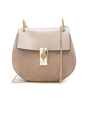 Small Drew Suede & Calfskin Shoulder Bag
