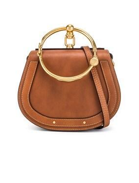 Small Nile Calfskin & Suede Bracelet Bag