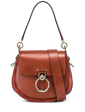 Medium Tess Shiny Calfskin Shoulder Bag