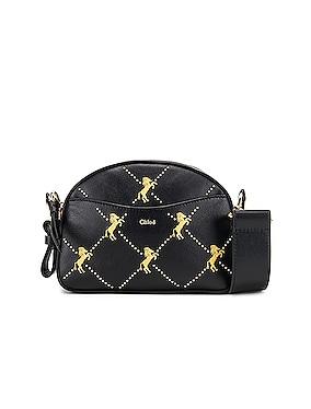 Mini Signature Embroidered Leather Bag