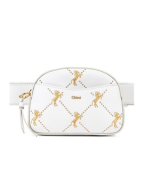 Mini Signature Embroidered Leather Belt Bag