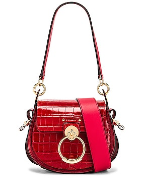 Small Tess Embossed Croco Shoulder Bag