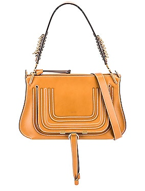 Medium Marcie Leather Saddle Bag