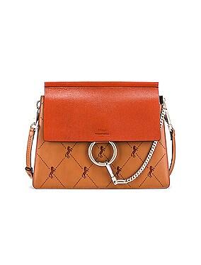 Medium Faye Perforated Horses Shoulder Bag