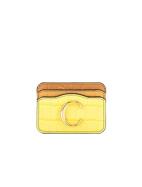 Tricolor Embossed Croc Card Case