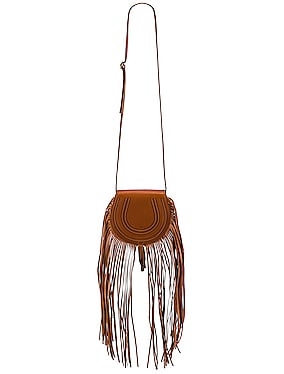 Small Marcie Fringe Saddle Bag
