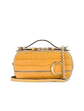 Mini Embossed Croc Vanity Bag