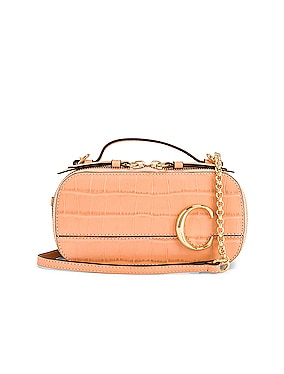 Mini Chloe C Embossed Croc Vanity Bag