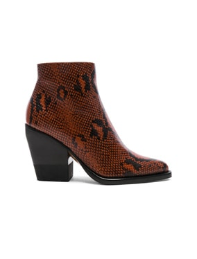 Python Rylee Print Leather Ankle Boots