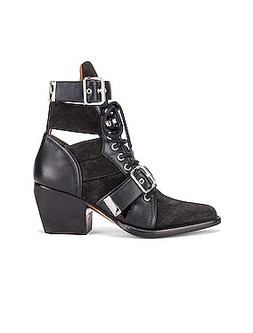Lace Up Buckle Boots