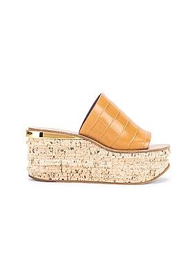 Camille Embossed Croc Platform Sandals