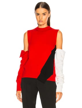 Fold Down Sleeve Sweater