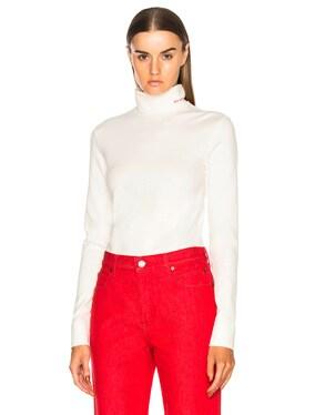 Cotton Jersey Turtleneck