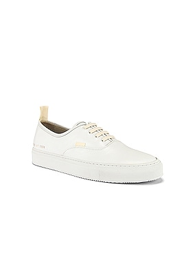 Four Hole in Leather Low Sneaker