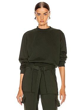 Milan Crop Crew Sweatshirt