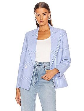 Seersucker Blazer Jacket