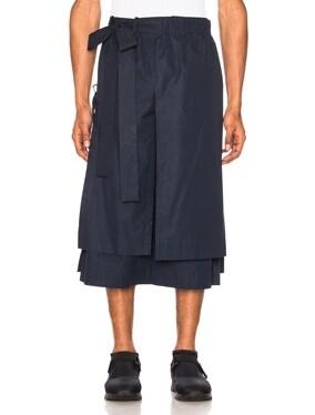 Layered Cotton Track Shorts