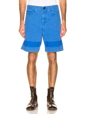 Acid Wash Line Stitch Shorts