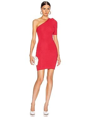 One Shoulder Knit Mini Dress