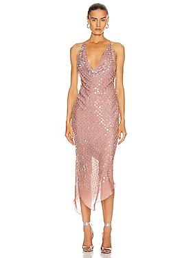 Sleeveless Cowl Neck Dress