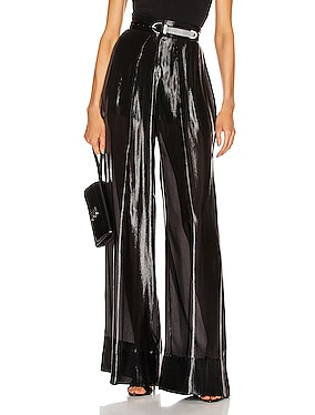 High Waisted Wide Leg Sheer Pant