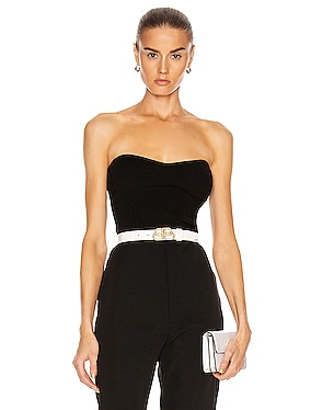 Strapless Fitted Knit Top