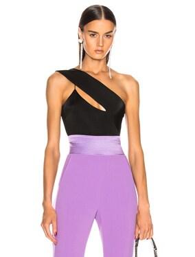 Asymmetrical Cut Away Bodysuit