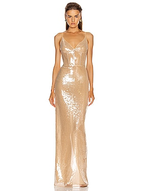Sequins Bra Detail Gown
