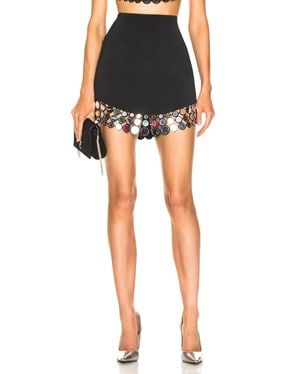 Circle Embellished Mini Skirt