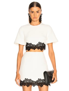Lace Trim Cropped Top